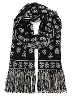 трикотажный шарф Skull  Alexander McQueen