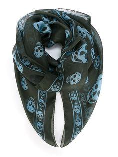 шарф с принтом Skull  Alexander McQueen
