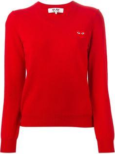 свитер c V-образным вырезом   Comme Des Garçons Play