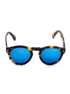 ILLESTEVA LEONARDI1048C11 Tartaruga lente azul espelhada ??? Acetate Illesteva