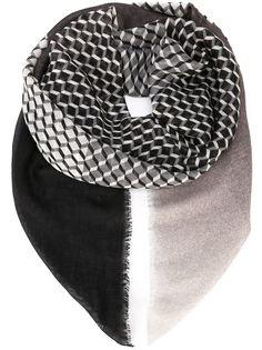 шарф с кубическим принтом Pierre Hardy