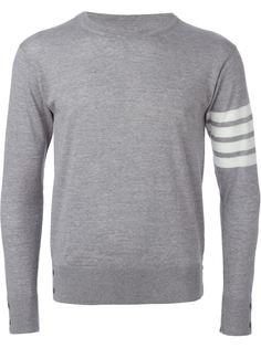свитер с с контрастными полосками  на рукаве  Thom Browne