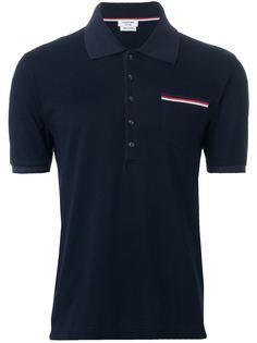 футболка-поло с нагрудным карманом  Thom Browne