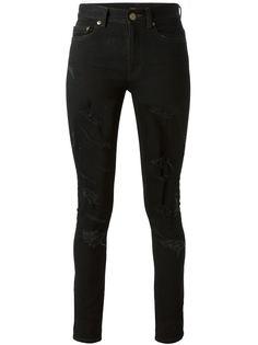 джинсы кроя скинни с рваной отделкой Saint Laurent