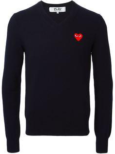 свитер с рисунком сердца Comme Des Garçons Play