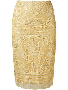 кружевная юбка-карандаш renascença Martha Medeiros