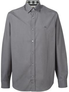 рубашка с вышитым логотипом  Burberry