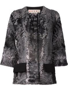 пиджак с отделкой из шерсти ягненка Marni
