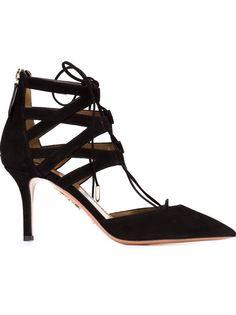 туфли на шнуровке Aquazzura