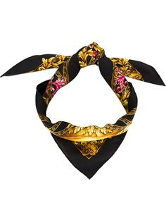 платок с принтом логотипа Versace