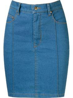 high waist denim skirt Amapô