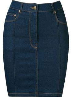 джинсовая юбка с завышенной посадкой  Amapô