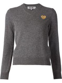 свитер с вышивкой сердца Comme Des Garçons Play