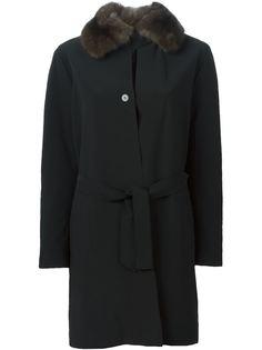 пальто с меховым воротником Liska