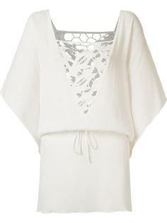 пляжное платье с кружевной панелью Brigitte