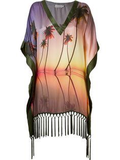 пляжное платье с принтом пальм Brigitte