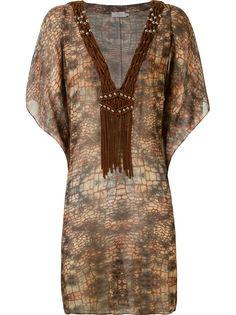 пляжное платье с абстрактным принтом Brigitte
