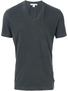 футболка c V-образным вырезом   James Perse