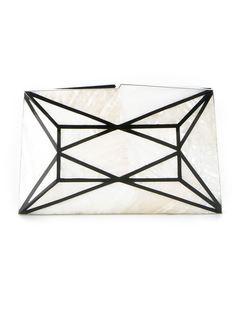 перламутровый клатч с панельным дизайном Serpui