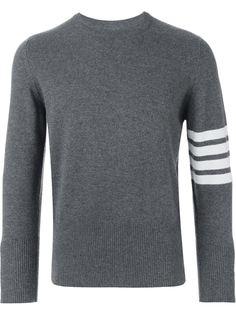 свитер с полосками на рукаве Thom Browne