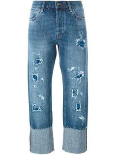 джинсы с потертой отделкой Phoebe Mih Jeans