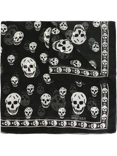 прозрачный платок с черепами Alexander McQueen