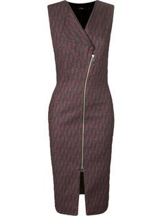 платье с V-образным вырезом без рукавов  Andrea Marques