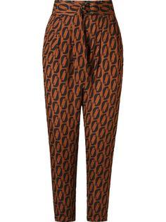 брюки с завышенной талией и поясом Andrea Marques