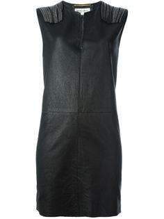 платье-шифт с бахромой Saint Laurent