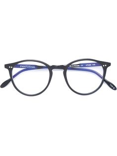 очки в круглой оправе Pantos Paris