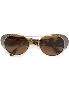 солнцезащитные очки с узором черепашьего панциря Matsuda