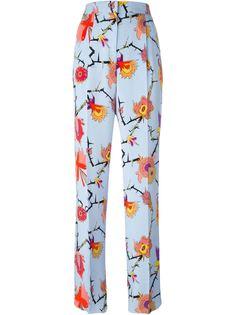 брюки с цветочным принтом Emilio Pucci