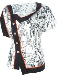 рубашка с графическим принтом Emilio Pucci