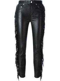 брюки с бахромой Saint Laurent