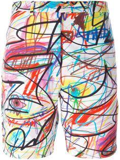 шорты с абстрактным принтом Jeremy Scott