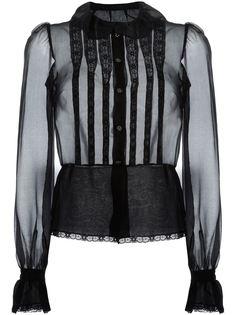 прозрачная рубашка с нагрудной панелью Dolce & Gabbana