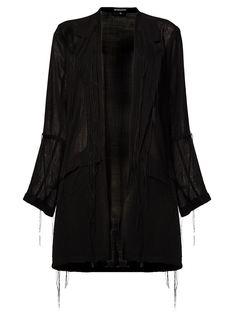 облегченное пальто с бахромой Ann Demeulemeester