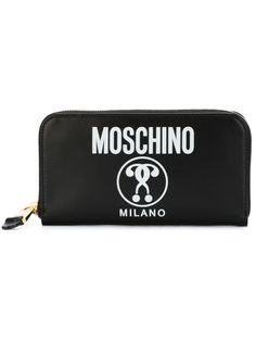 кошелек с принтом двойного вопросительного знака Moschino