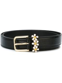 ремень с ромашками из стразов Dolce & Gabbana