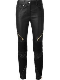 байкерские брюки с декоративными молниями Givenchy