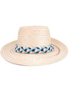 соломенная шляпа с помпонами Yosuzi