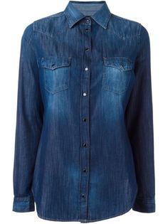 джинсовая рубашка в стиле вестерн Diesel