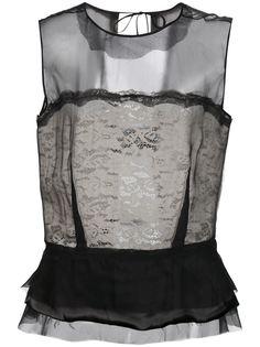 прозрачная блузка  Maison Margiela