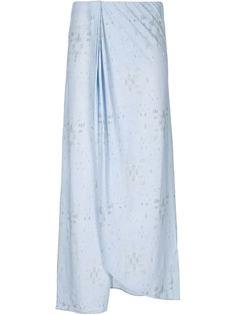 длинная юбка с запахом Baja East
