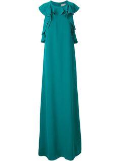 вечернее платье с оборками Lanvin