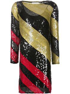 полосатое платье с пайетками Sonia Rykiel