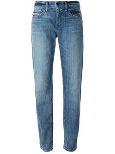 выбеленные джинсы-бойфренды Helmut Lang