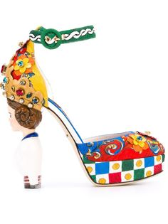 туфли с принтом Carretto Siciliano Dolce & Gabbana