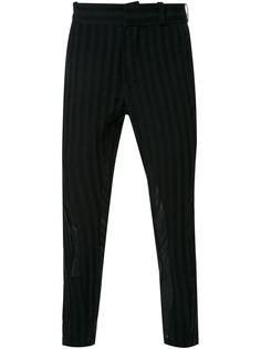 брюки Shaft в полоску  Ann Demeulemeester