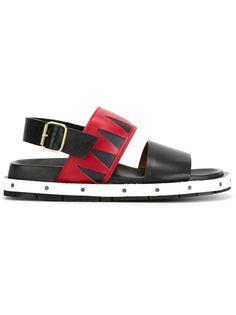 сандалии с ремешком на пятке Marni